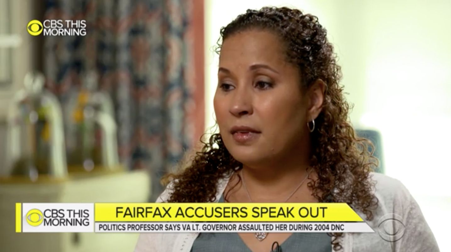 Vanessa Tyson, one of two women who have accused Virginia Lieutenant Gov. Justin Fairfax (D) of sexual assault, called on him to resign.