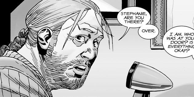 Dans les comics, Eugene échange par radio avec une femme nommée