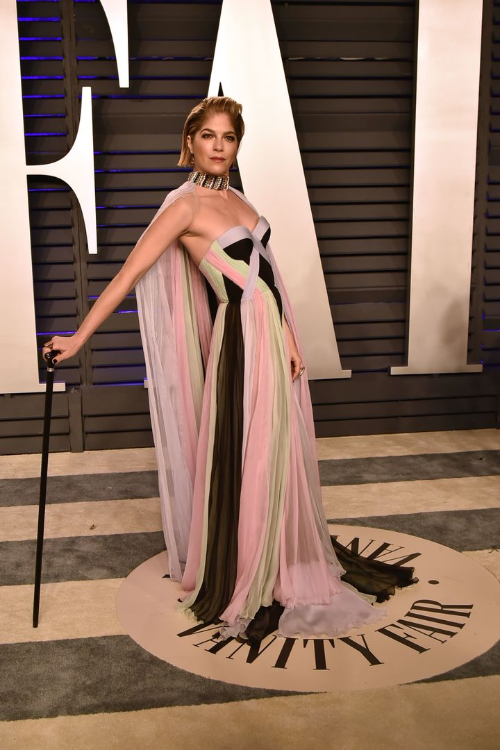 Selma Blair at the 2019 Vanity Fair Oscars party.