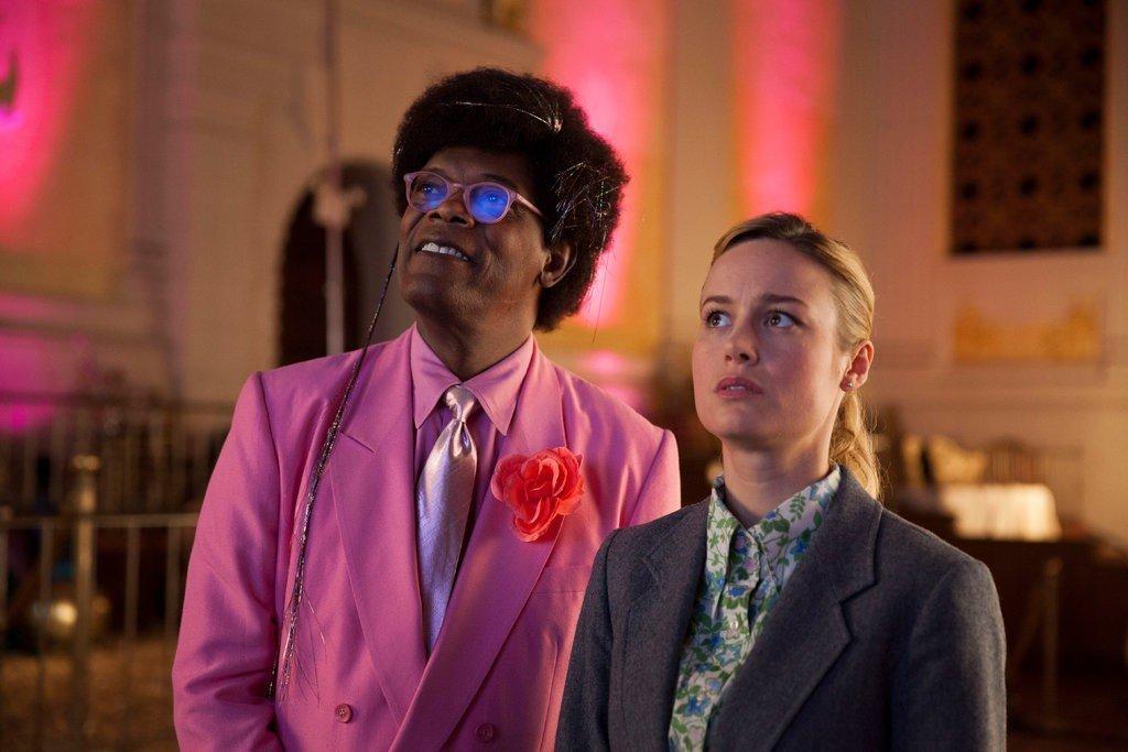 "Samuel L. Jackson and Brie Larson in ""Unicorn Store"" on Netflix."
