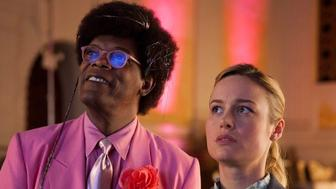 "Samuel L. Jackson and Brie Larson in ""Unicorn Store"" on Netflix."