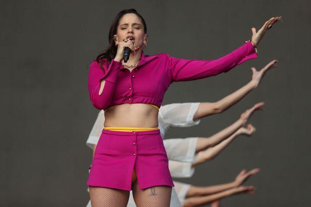 Rosalía, en su concierto del domingo en Santiago de