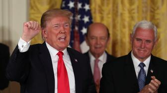President Donald Trump, Wilbur Ross, Mike Pence