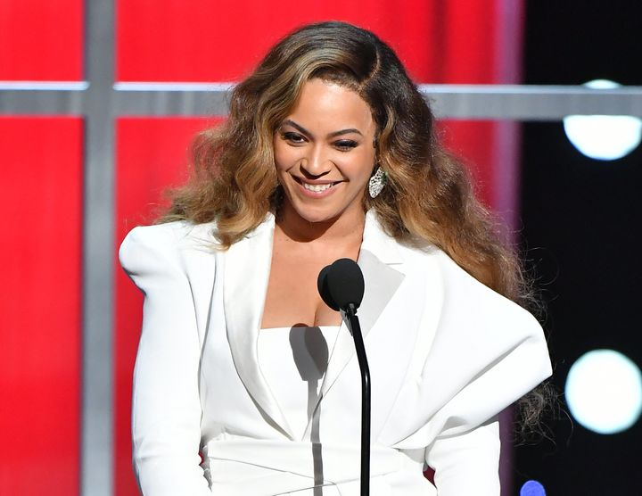 Beyoncé takes the stage at the NAACP Image Awards Saturday in Los Angeles.