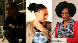 Sibeth Ndiaye, de gauche à droite (et de droite à