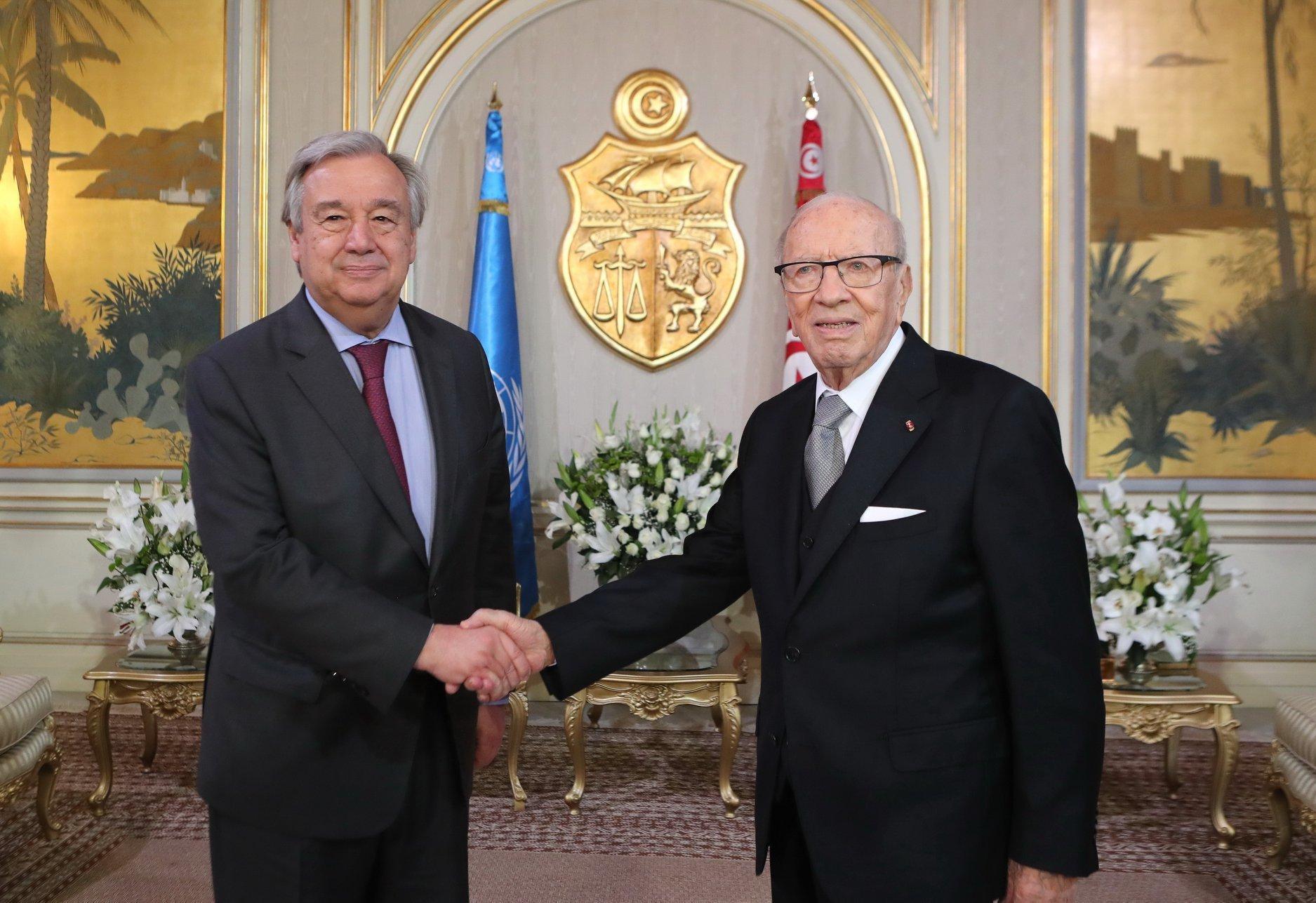 Le Secrétaire Général de l'ONU salue les acquis de l'expérience démocratique tunisienne malgré un contexte régional