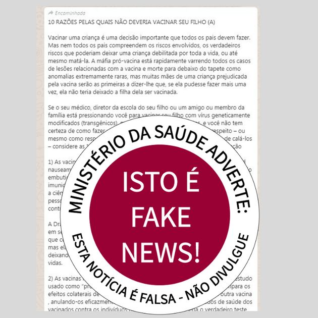 Ministério desmente principais fake news sobre saúde que circulam nas