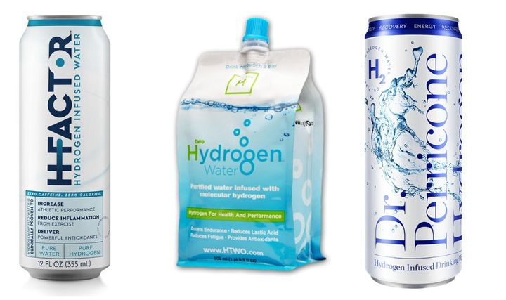 HFactor, Hwo and Dr. Perricone are three popular brands of hydrogen-infused water.