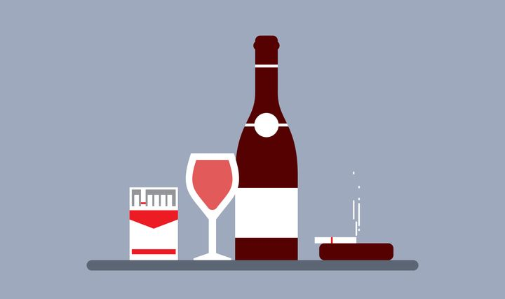 A recent study found that, in terms of increased cancer risk, drinking a bottle of wine is equivalent to smoking up to half a pack of cigarettes in a week.