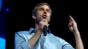 Democratic presidential candidate and former Texas congressman Beto O'Rourke speaks during the We the People Membership Summit, featuring the 2020 Democratic presidential candidates, at the Warner Theater, in Washington, Monday, April 1, 2019. (AP Photo/Jose Luis Magana)