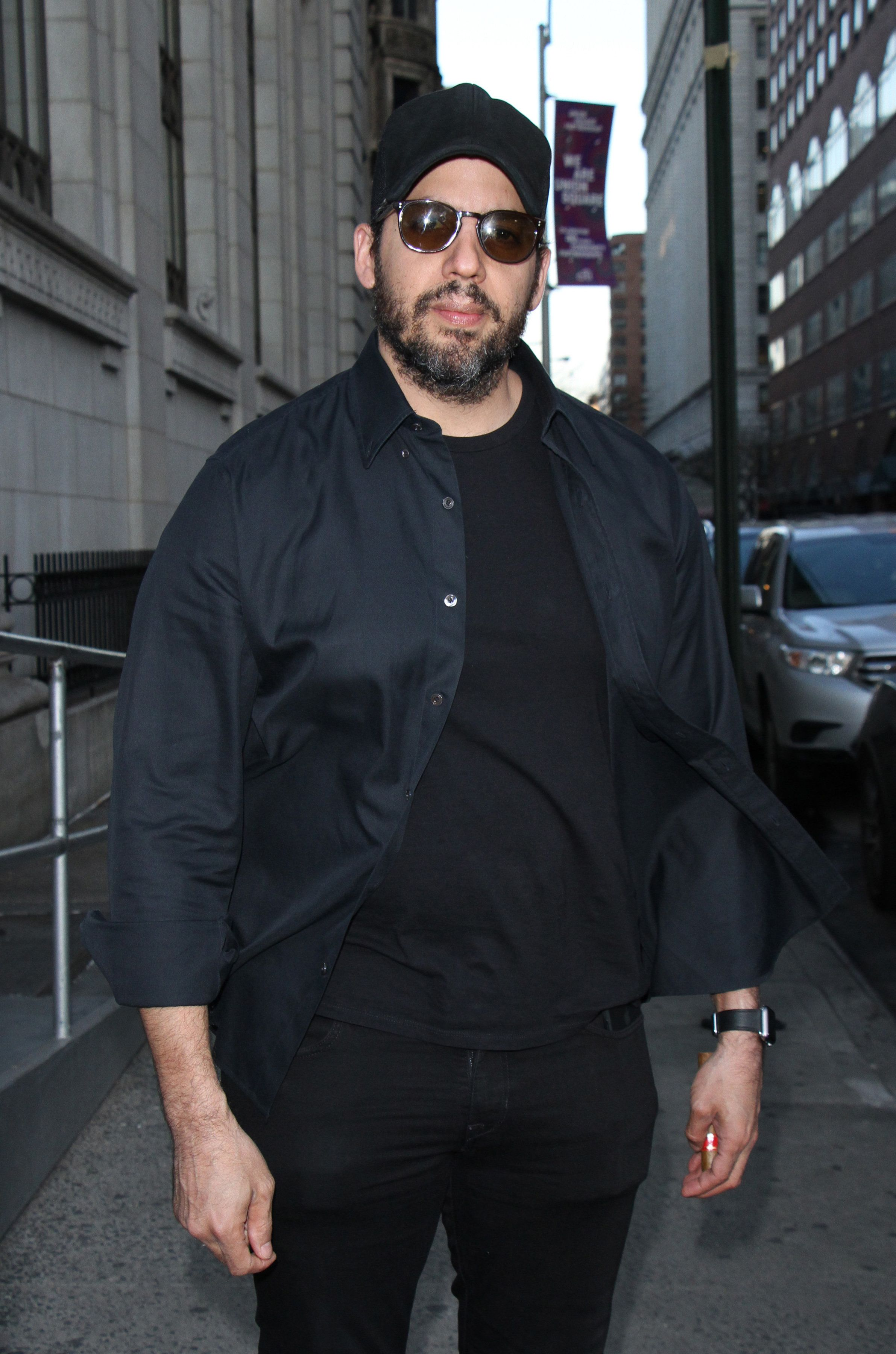 NEW YORK, NY - APRIL 12: David Blaine arriving to the opening night of Neil Patrick Harris presents In & Of Itself Identity Is An Illusion at the Daryl Roth Theatre in New York City on April 12, 2017. Credit: RW/MediaPunch/IPX