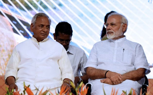 A file photo of Prime Minister Narendra Modi and Rajasthan Governor Kalyan