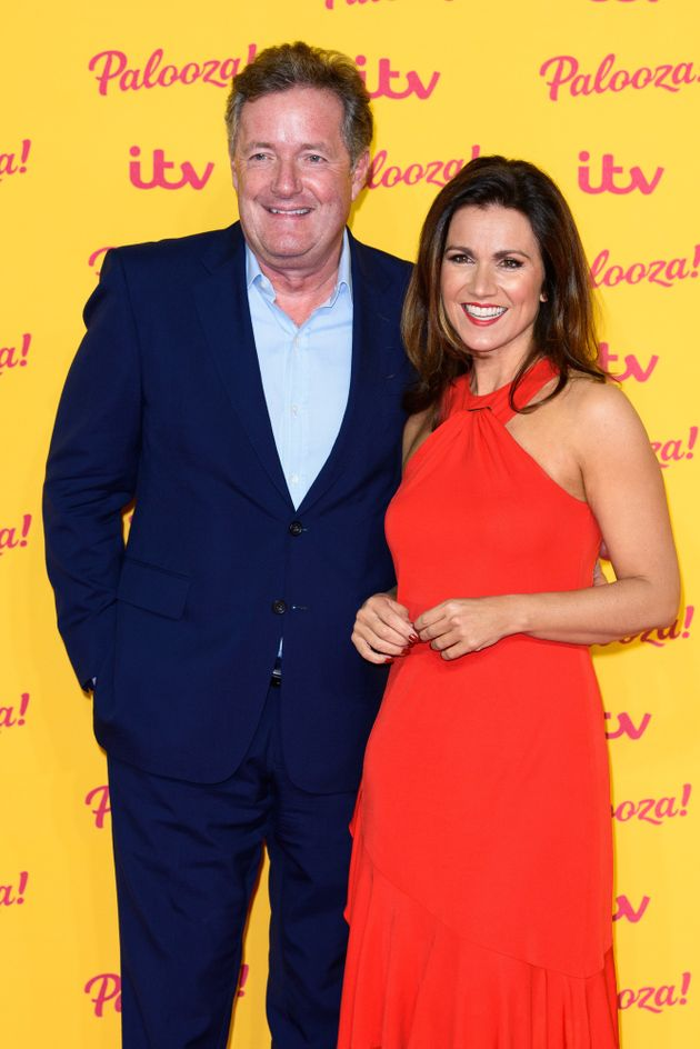 Piers and Susanna at ITV's summer party last