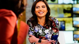 NEW YORK - OCTOBER 3: Bianna Golodryga (shown here) joins Gayle King, Norah O'Donnell and John Dickerson as co-host of 'CBS This Morning.' (Photo by Michele Crowe/CBS via Getty Images)