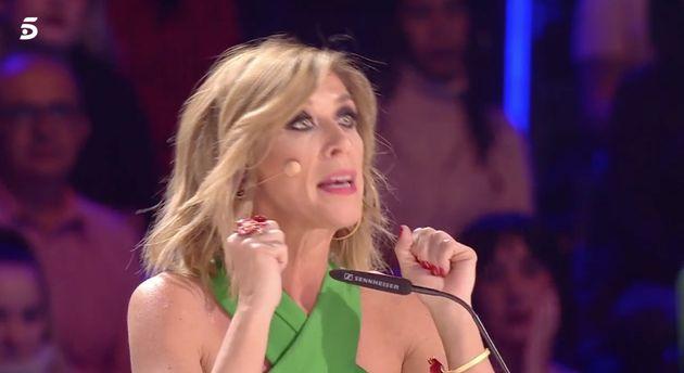Eva Isanta, a un concursante de 'Got Talent' (Telecinco):