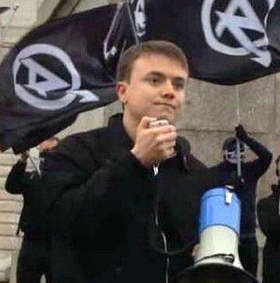 Undated handout file photo issued by Greater Manchester Police of Jack Renshaw at a National Action