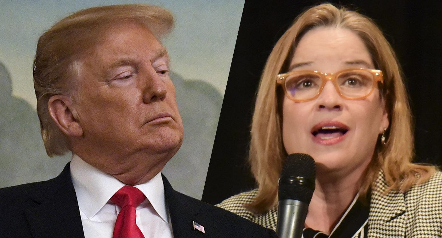 President Trump and San Juan Mayor Carmen Yulin Cruz Soto.  (Susan Walsh/AP, Carlos Guisti/AP)