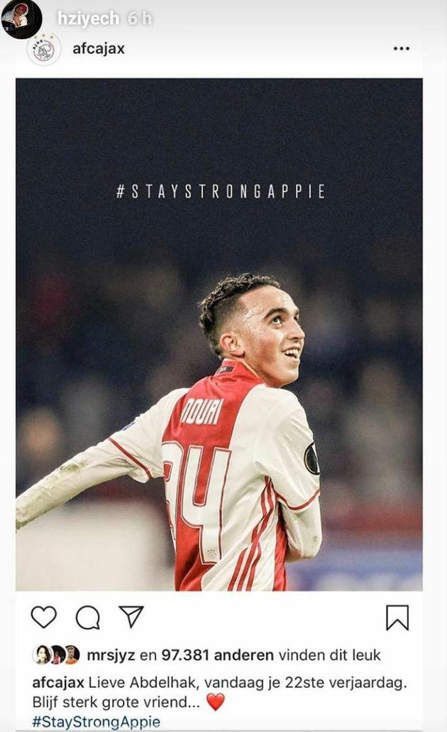 Des footballeurs rendent hommage à Abdelhak Nouri à l'occasion de son 22e