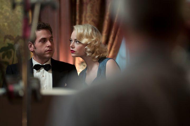 "Jonah Hill and Emma Stone in ""Maniac"" on Netflix."