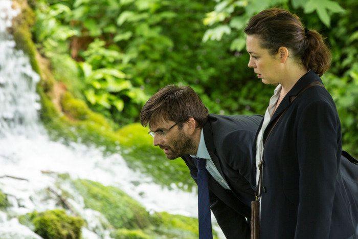 "David Tennant and Olivia Colman in ""Broadchurch"" on Netflix."