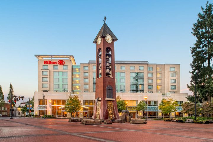The Hilton Vancouver Washington is government-owned but operated by the private Hilton hotel company.