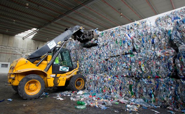 Una planta de reciclaje de