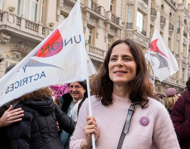 Aitana Sánchez-Gijón en la marcha del