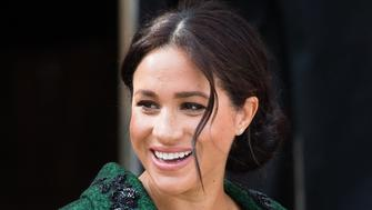 LONDON, ENGLAND - MARCH 11: Meghan, Duchess of Sussex attends a Commonwealth Day Youth Event at Canada House on March 11, 2019 in London, England. The event will showcased and celebrated the diverse community of young Canadians living in London and around the UK. (Photo by Samir Hussein/Samir Hussein/WireImage)