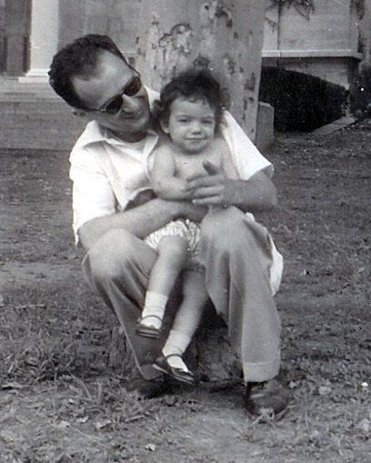 The author and her dad, on the last day they saw her mother.