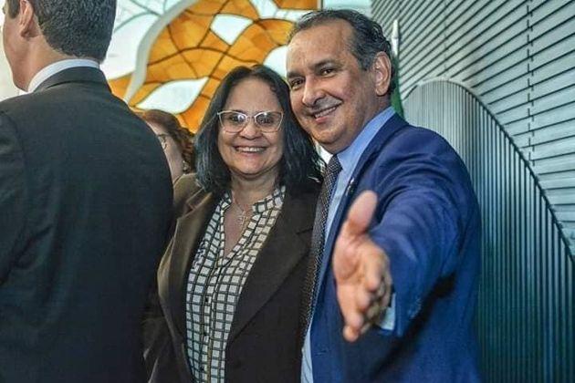 Ministra Damares Alves (Mulher, Família e Direitos Humanos) participou de lançamento da...
