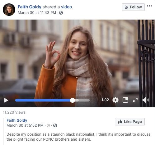 Facebook Says White Nationalist Video Doesn't Break New Policy Against White