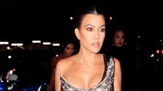 NEW YORK, NY - FEBRUARY 07:  Kim Kardashian, Kourtney Kardashian and Lala Anthony are seen on February 7, 2019 in New York City.  (Photo by Gotham/GC Images)
