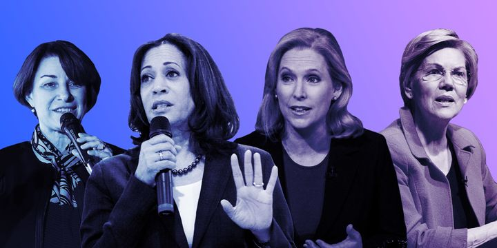 The leading women in contention for the 2020 Democratic nomination spoke out against the recent tide of abortion restrictions