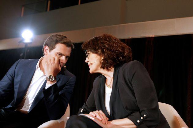 Albert Rivera y la exsocialista Soraya Rodríguez, que irá en las listas de las elecciones...