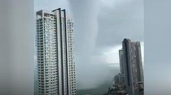 Une trombe d'eau frôle les côtes malaisiennes pendant 40