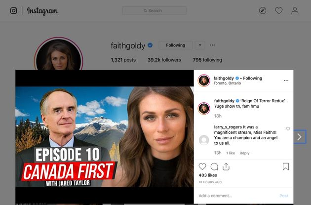 Facebook Says Faith Goldy Video Doesn't Break New Policy Against White