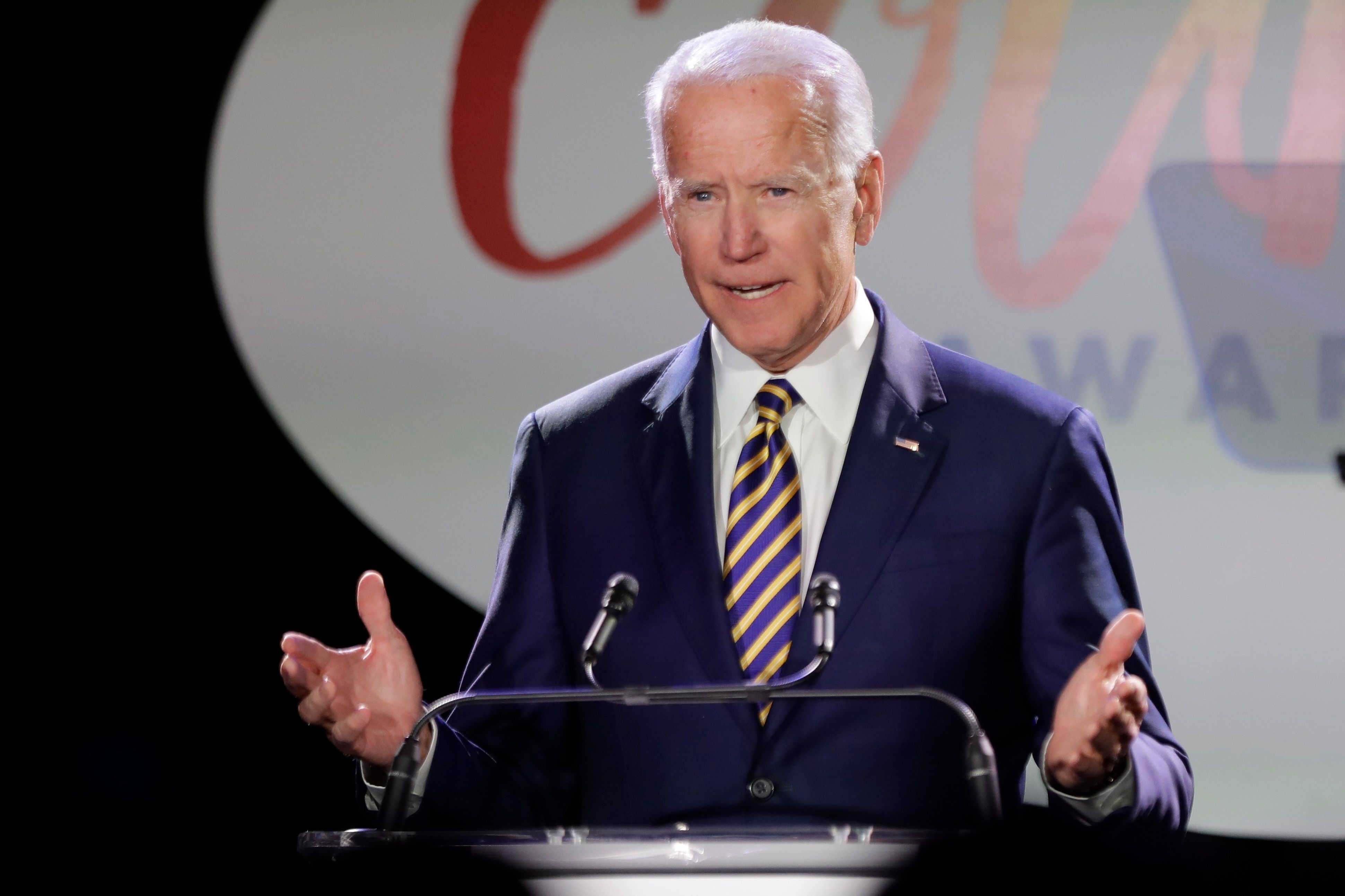 Former Vice President Joe Biden at the Biden Courage Awards in New York City on March