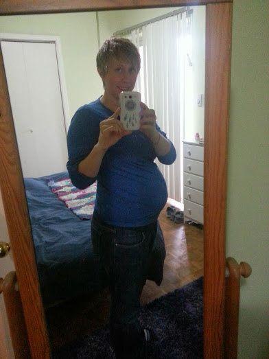 著者が妊娠28週の時の写真