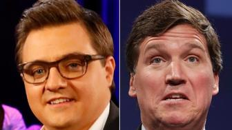 Chris Hayes and Tucker Carlson