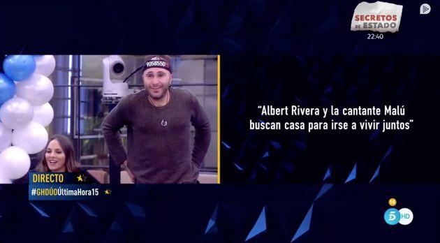 La inesperada reacción de los concursantes de 'GH Dúo' (Telecinco) al enterarse del romance entre Rivera...