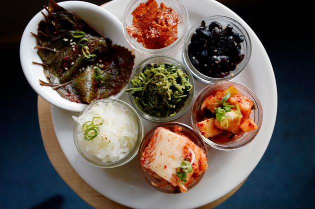 South Korean food is centered around side dishes called banchan, which rarely all get