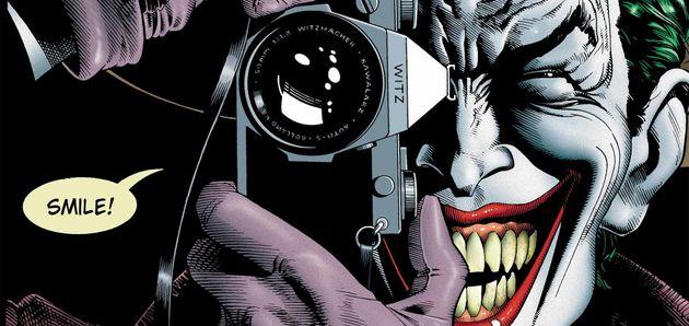 Capa da famosa HQ Batman: A Piada Mortal, do mestre dos quadrinhos Alan