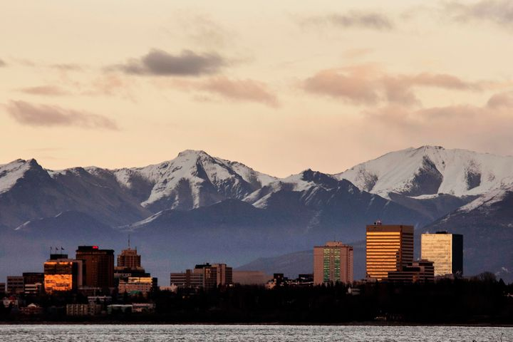Anchorage's maximum average temperature from September to March was higher than any other year since 1952 when record ke