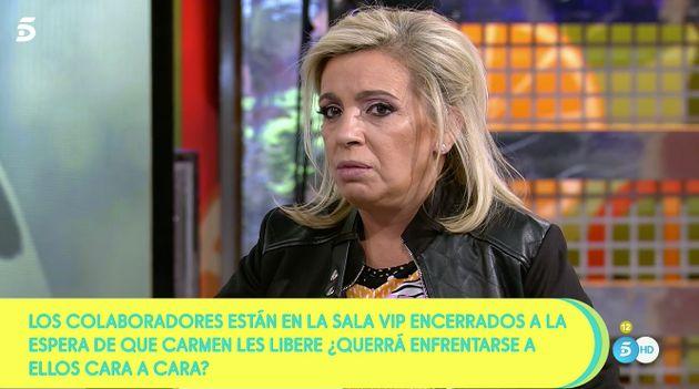 Carmen Borrego abandona 'Sálvame'