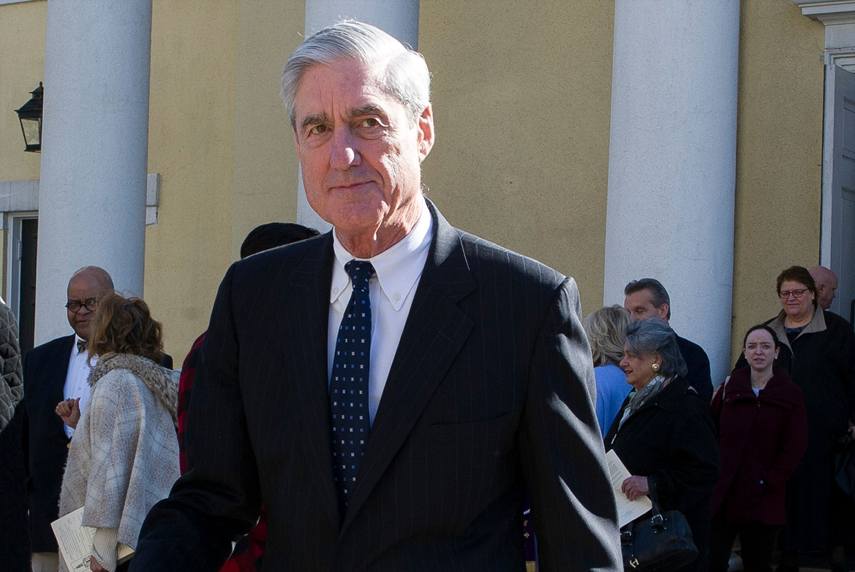 "In this March 24, 2019, photo, Special counsel Robert Mueller departs St. John's Episcopal Church, across from the White House in Washington. Democrats say they want ""all of the underlying evidence"" in Mueller's investigation. But what is all of that evidence? (AP Photo/Cliff Owen)"