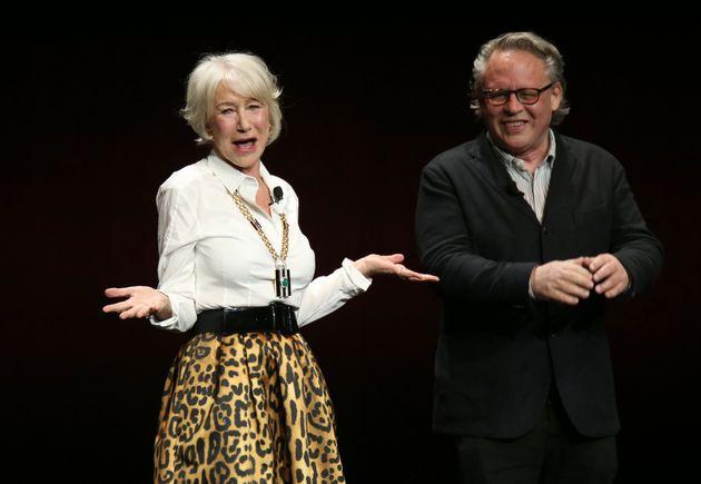 Helen Mirren on stage at