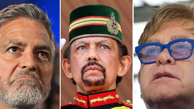 O ator George Clooney e o cantor Elton John foram os primeiros a se manifestar contra os empreedimentos...