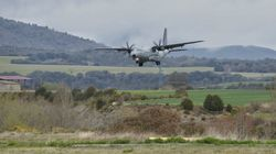 Nueve heridos al salirse de pista un avión militar en