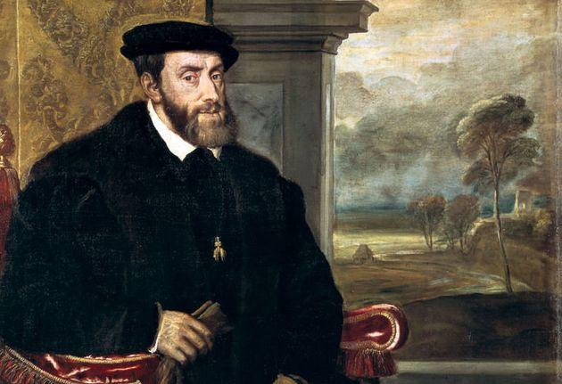 Retrato de Carlos V sentado,