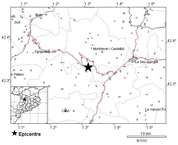 Un terremoto de 4'2 grados se siente en numerosas localidades de